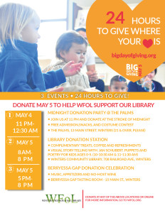 3 Fun Events – 24 Hours to Give!