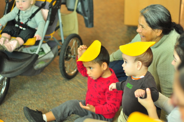 Library Story Time stroller