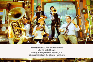 The Crescent Katz at the Gazebo in Winters July 23