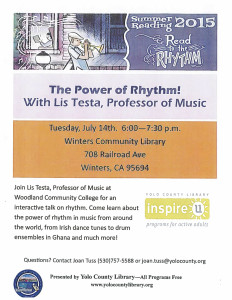 Change Your Life -Listen to Music – Library Program for Adults July 14