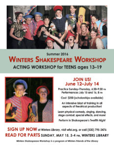 Sign Up Now for Teen Actors Workshop!