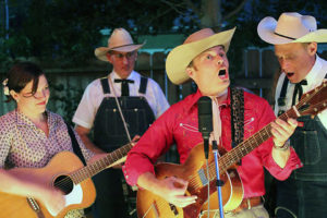Peter Petty and his Dubble P Boys at the Gazebo in Winters July 7