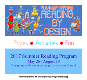 Summer Reading is Here!  May 26 through August 19, 2017