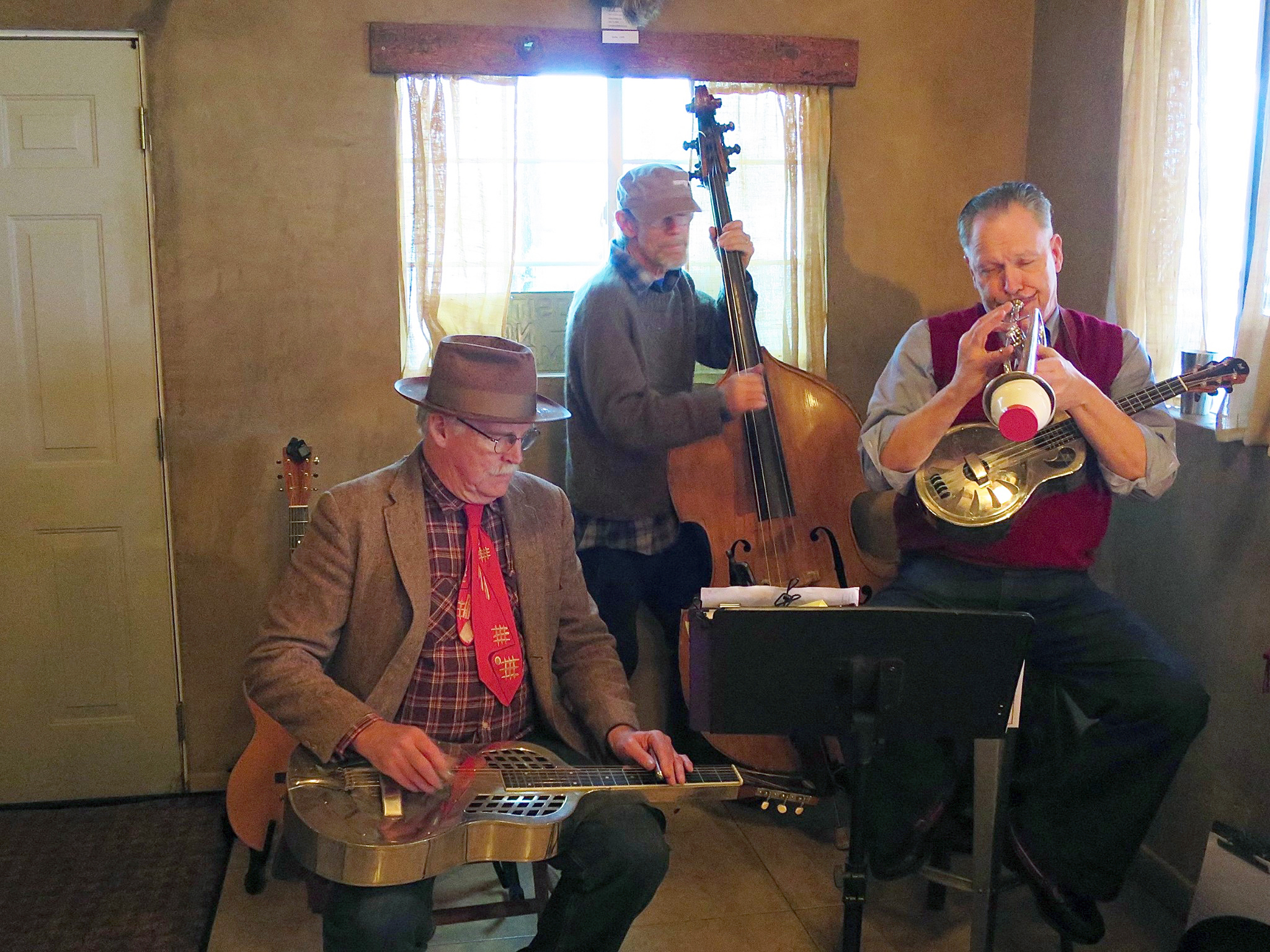 Photo caption: Armstrong, Cary & MacGill will present a free outdoor concert on Thursday July 27 at 7:00 p.m. at the Rotary Park Gazebo in Winters. This will be the last performance of the Winters Friends of the Library summer concert series.