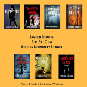 Author Tamsen Schultz Speaks at Winters Community Library on September 26