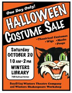 Costume Sale at the Winters Library